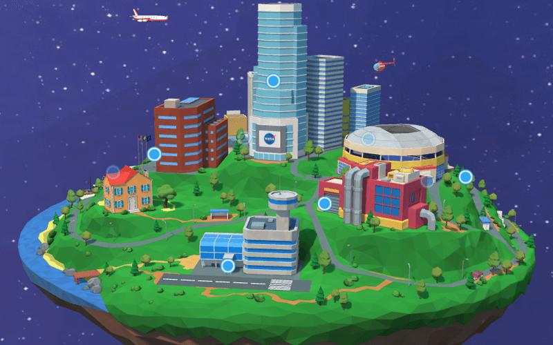 [Exploración espacial : aplicación web interactiva NASA Home & City]
