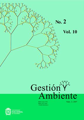 Revista Gestión y Ambiente Vol. 10, Núm. 2 2007