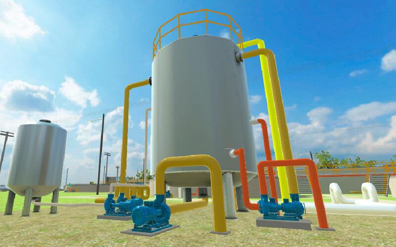 Bombas para el sistema de tratamiento de aguas residuales