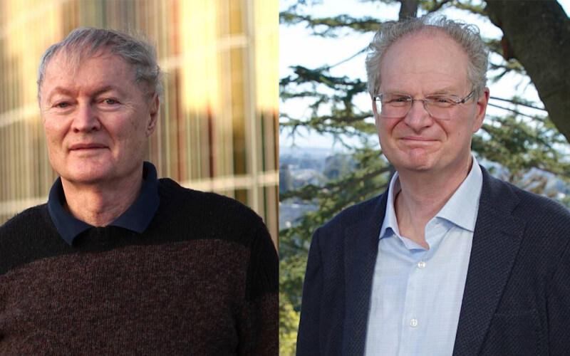 Los científicos galardonados Michael Grätzel y Paul Alivisatos. / FBBVA