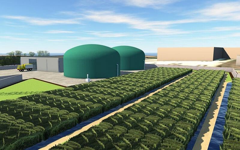 Recreación virtual de la planta de generación de biogás del proyecto RIAZOR