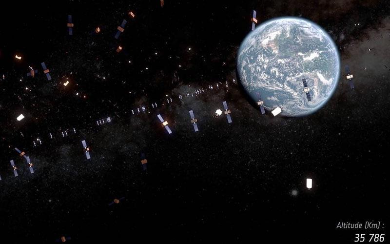 La basura espacial amenaza a los satélites en operación. / ESA/ID&Sense/ONiRiXEL