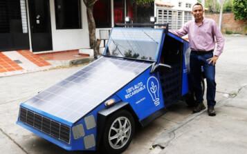 Cucuteño construye un carro que funciona con energía solar