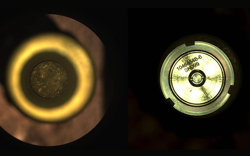 La primera muestra de roca de Marte extraída por Perseverance. / NASA/JPL-Caltech